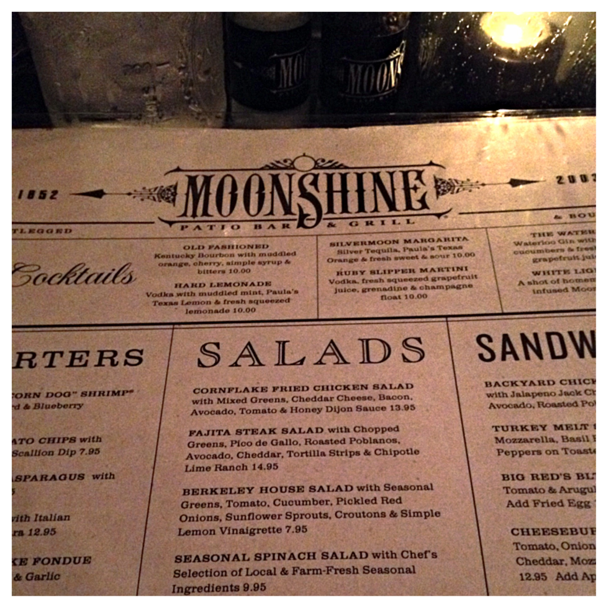 When Iu0027m In Austin, TX, I Like Coming Back To Moonshine Patio Bar And Grill  In The Downtown Area For Their Great Service And Satisfying Food.